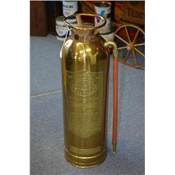 Vintage Brass Fire Extinuisher