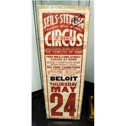 1930's Original Seils-Sterling Circus Poster