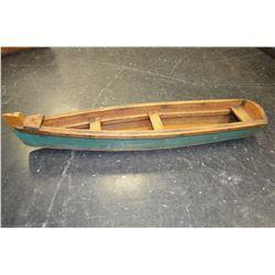 Vintage Model Canoe