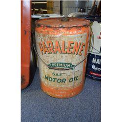 Paralene Motor Oil Pail