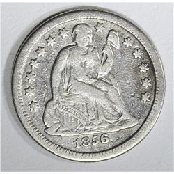 1856-O SEATED DIME, VF+