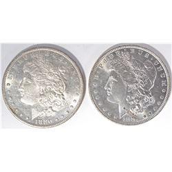 1880-S & 81-O CH BU MORGAN DOLLARS
