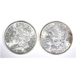 1881-S & 87 CH BU MORGAN DOLLARS