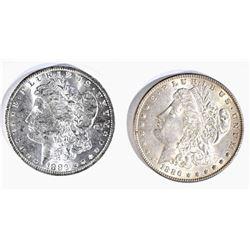 1883-O & 86 CH BU MORGAN DOLLARS