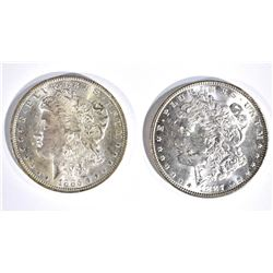 1885-O & 87 CH BU MORGAN DOLLARS