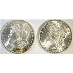 1887 CH BU & 1904-O GEM BU MORGAN DOLLARS