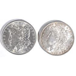 1890 & 1896 MORGAN DOLLARS  CH BU