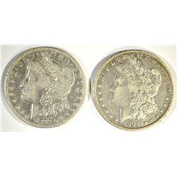 1892-S VG & 1894-O XF MORGAN DOLLARS