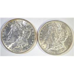 1887 & 1898 GEM BU MORGAN DOLLARS
