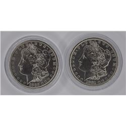 1881-S & 82-S MORGAN DOLLARS BU
