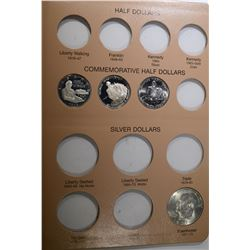 DANSCO TYPE ALBUM WITH THE FOLLOWING COINS