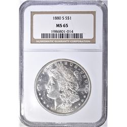 1880 S MORGAN DOLLAR  NGC  MS-65