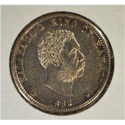 1883 SILVER 25 CENT HAWAII  CH BU