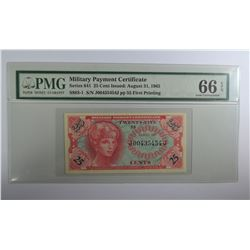 SERIES 641 25 CENT MILITARY PAYMENT