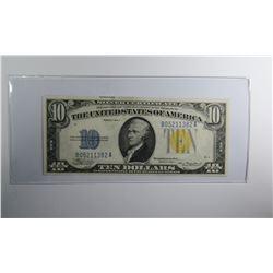 1934A $10 NORTH AFRICA SILVER CERTIFICATE