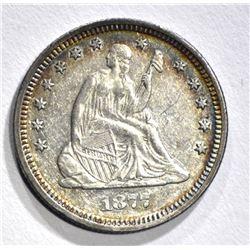 1877 SEATED QUARTER, BU