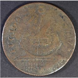 1787 FUGIO STATES UNITED XF SCRATCHES REV.