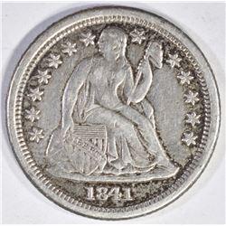 1841-O SEATED LIBERTY DIME AU