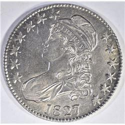 1827 BUST HALF BU