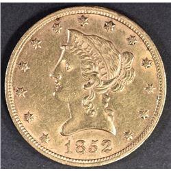 1852 $10 GOLD LIBERTY BU