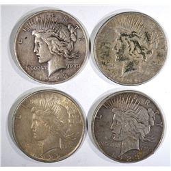 1922, 23, 23-D,& 26-S CIRC PEACE DOLLARS