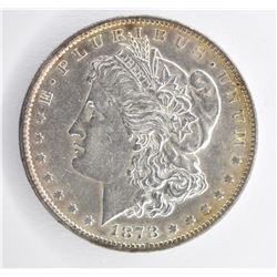 1878 7/8TF STRONG MORGAN DOLLAR, CH BU