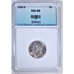 1939-S JEFFERSON  NICKEL, EMGC SUPERB GEM BU
