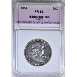 1954 FRANKLIN HALF DOLLAR NGP