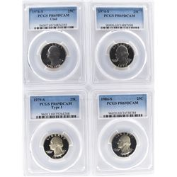 4 WASHINGTON QUARTERS PCGS PR69DCAM