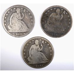 SEATED HALF DOLLARS: