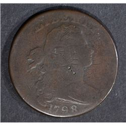 1798 LARGE CENT, VG