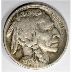 1913-D TYPE-2 BUFFALO NICKEL, VF