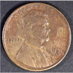 1931 S LINCOLN CENT  XF