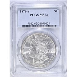 1878 S MORGAN DOLLAR  PCGS MS 62