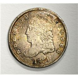 1831 CAPPED BUST HALF DIME, XF