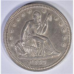 1839 SEATED QUARTER, CH BU