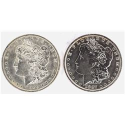 1887 & 98 CH BU MORGAN DOLLARS