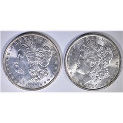 1886 & 87 MORGAN DOLLARS, GEMS