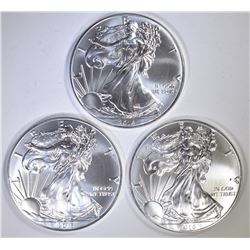 3-GEM BU 2016 AMERICAN SILVER EAGLES