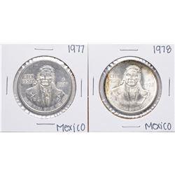 Lot of 1977-1978 Mexico Cien Pesos Silver Coins