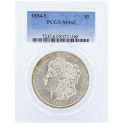 1894-S $1 Morgan Silver Dollar Coin PCGS MS62