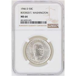 1946-D Booker T. Washington Memorial Half Dollar Coin NGC MS64