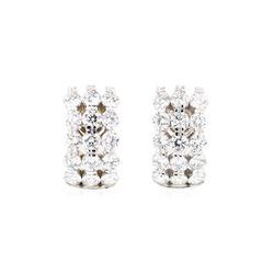 14KT White Gold 4.65 ctw Diamond Earrings