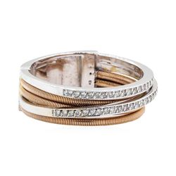 18KT Rose and White Gold 0.30 ctw Diamond Ring
