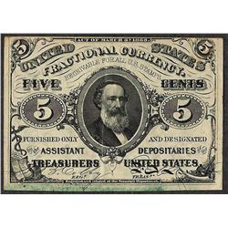March 3, 1863 Five Cents Third Issue Fractional Currency Note