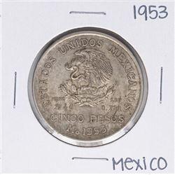 1953 Mexico Cinco Pesos Silver Coin