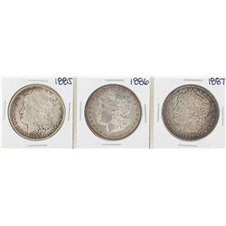 1885-1887 $1 Morgan Silver Dollar Coins