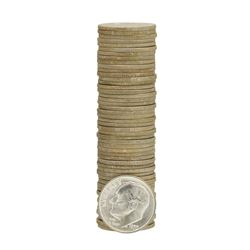 Roll of (50) 1953-D Brilliant Uncirculated Roosevelt Dimes