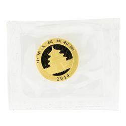 2014 China 50 Yuan Panda 1/10 oz Gold Coin