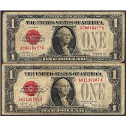 Lot of (2) 1928 $1 Legal Tender Notes